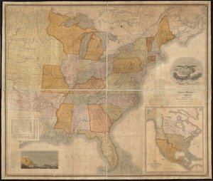 Map of the United States of North America