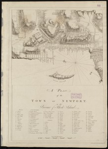 A plan of the town of Newport in the province of Rhode Island
