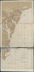 A chart of the coast of New York, New Jersey, Pensilvania, Maryland, Virginia, North Carolina, &c