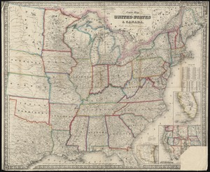 G. Woolworth Colton's new guide map of the United States & Canada