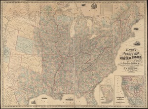 Lloyd's new county map of the United States and Canadas showing battle fields, railroads, &c., compiled from the latest goverment surveys & other reliable & official sources