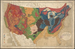 Geological map of the United States