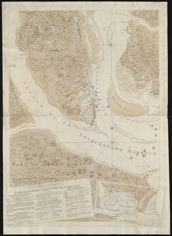 A sketch of the operations before Charlestown the capital of South Carolina