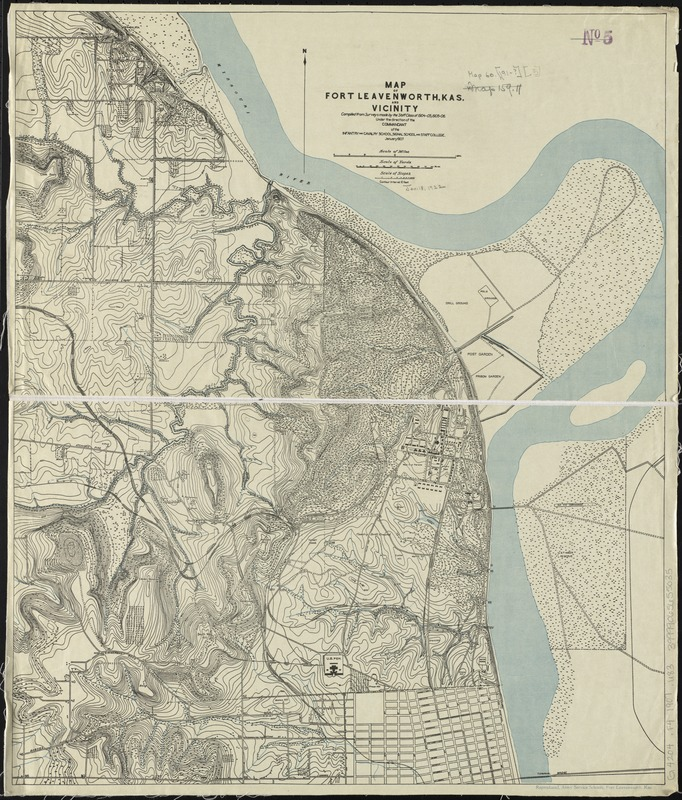 Map of Fort Leavenworth, Kas. and vicinity