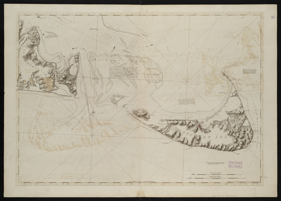 [Chart of Nantucket Island and the eastern half of Martha's Vineyard]