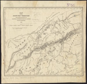 Map of the disputed territory [Maine]