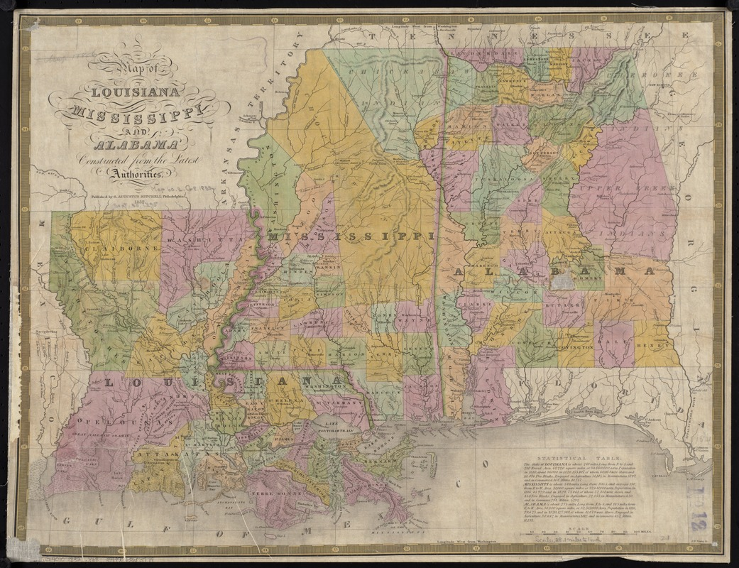 Map Of Louisiana Mississippi And Alabama Norman B Leventhal Map