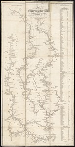 A new map of the western rivers, or, Travellers guide