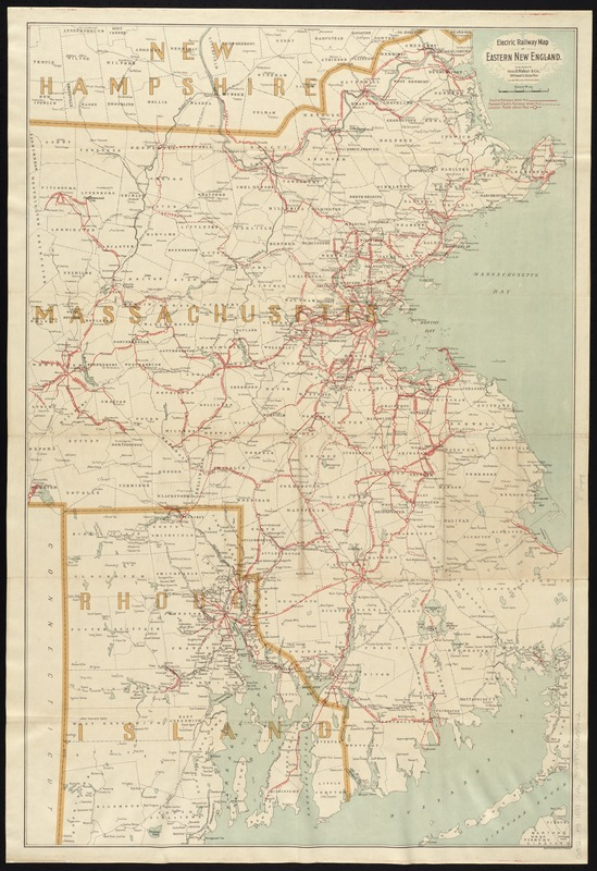 Electric railway map of eastern New England