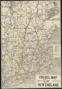 Travel-map of New England