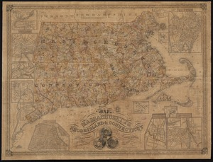 Map of Massachusetts, Rhode-Island & Connecticut