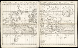 A new map of the world according to Wrights alias Mercators projection &c