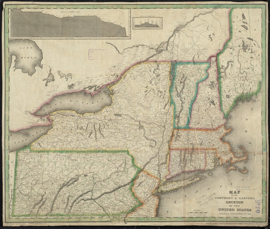 Map of the northern & eastern section of the United States - Digital ...