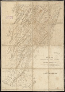 Map of the Shenandoah & Upper Potomac including portions of Virginia and Maryland