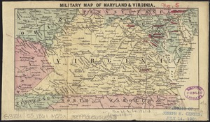 Military map of Maryland & Virginia