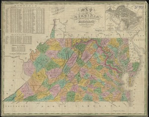 Map of Virginia and Maryland, constructed from the latest authorities