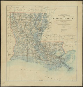 Map of the state of Louisiana