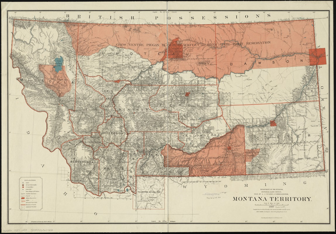 Montana Territory - Norman B. Leventhal Map & Education Center on zoom map of texas, atlas of montana, zoom in map, zoom map of united states,