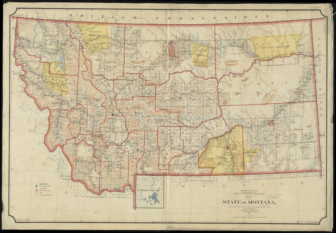 Map of the State of Montana