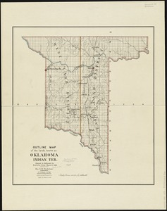 Outline map of the lands known as Oklahoma, Indian Ter. opened to settlement by Executive Order March 23, 1889