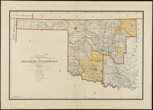 Map of Oklahoma Territory