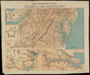 Smith's topographical map of Virginia and Maryland