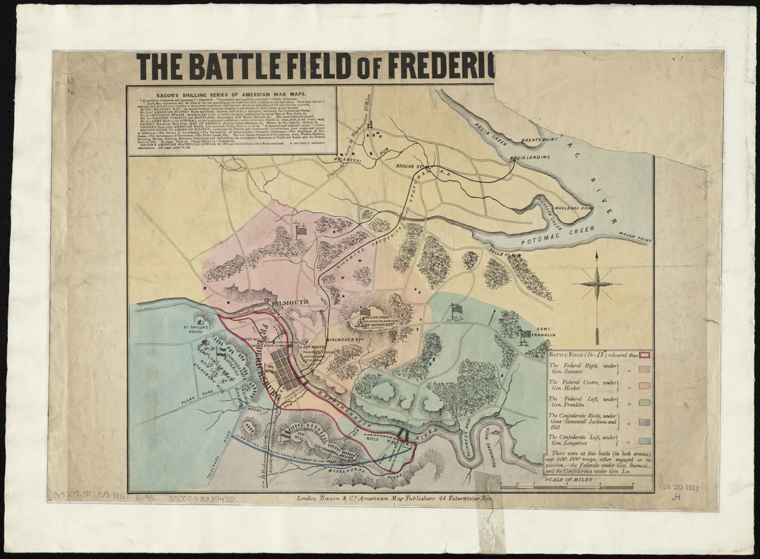 The battlefield of Fredericksburg