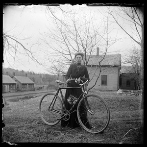 Woman with bicycle near Crystal St.