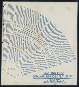 Seating plan, Berkshire Symphonic Festival shed