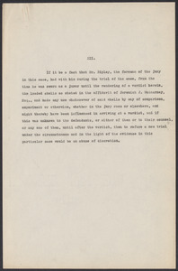 Sacco-Vanzetti Case Records, 1920-1928. Defense Papers. Notes re: Ripley Motion, 1921. Box 7, Folder 29, Harvard Law School Library, Historical & Special Collections