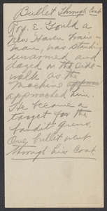 Sacco-Vanzetti Case Records, 1920-1928. Defense Papers. Address/notes (unidentified), n.d. Box 8, Folder 30, Harvard Law School Library, Historical & Special Collections