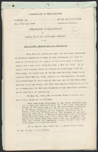 Herbert Brutus Ehrmann Papers, 1906-1970. Sacco-Vanzetti. Briefs and records. Box 10, Folder 7, Harvard Law School Library, Historical & Special Collections