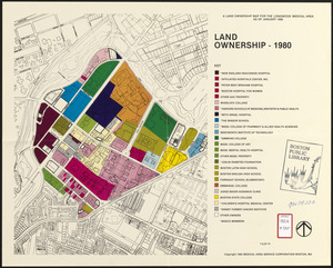 A land ownership map for the Longwood Medical Area as of January 1980