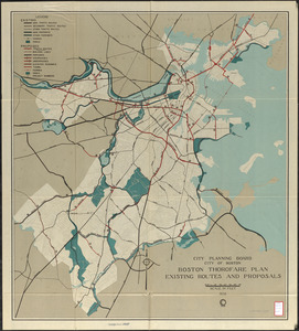 Boston thorofare plan existing routes and proposals