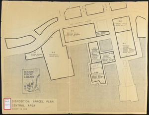 Disposition parcel plan, central area