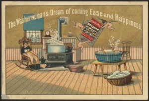 The washerwoman's dream of coming east and happiness.