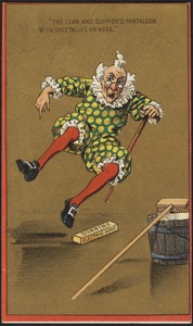 "Dobbins Electric Soap - ""The lean and slipper'd pantaloon with spectacles on nose."""