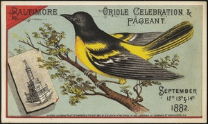 Baltimore, oriole celebration & pageant. September 12th, 13th & 14th, 1882.
