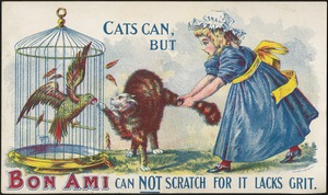 Cats can, but Bon Ami can not scratch for it lacks grit