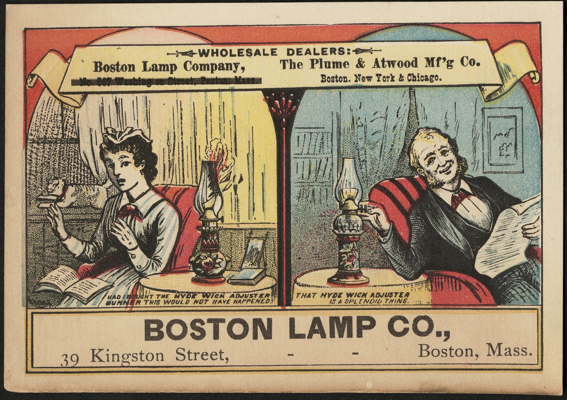 Boston Lamp Co., 39 Kingston Street, Boston, Mass.