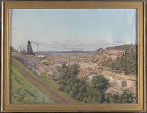 Construction of Wachusett Dam, Clinton, Mass., 1903