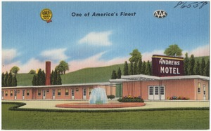 Andrews Motel, one of America's finest, best coffee shop and restaurant -- East Ohio -- reduced rates