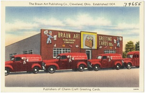 The Braun Art Publishing Co., Cleveland, Ohio. Established 1904. Publishers of Charm Craft Greeting Cards