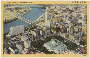 Aerial view of Columbus, Ohio