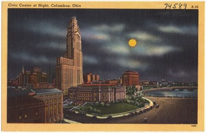 Civic Center at night, Columbus, Ohio