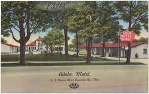 Adobe Motel, U. S. Route 40 at Donnelsville, Ohio