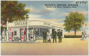 Bailey's Service Station, Route 4 at main, Fairborn, Ohio