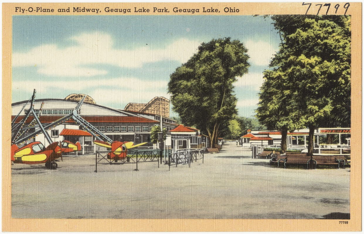 Fly-O-Plane and Midway, Geauga Lake Park, Geauga Lake, Ohio
