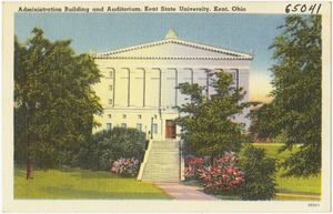 Administration building and auditorium, Kent State University, Kent, Ohio