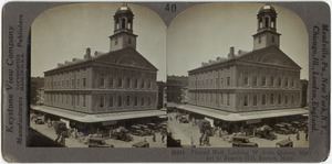 Faneuil Hall, looking W. from Quincy Market to Beacon Hill, Boston, Mass.